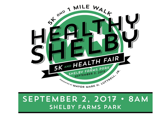 Healthy Shelby 5K Logo